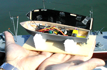 1:144 RC Warship Combat: French Destroyer le Fantasque Class
